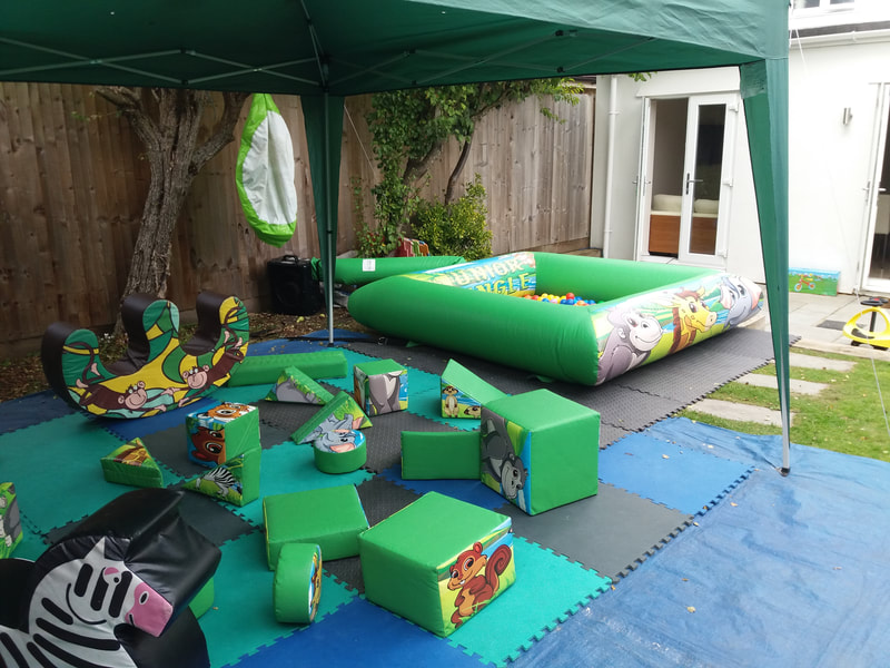 Jungle softplay and inflatable ballpond